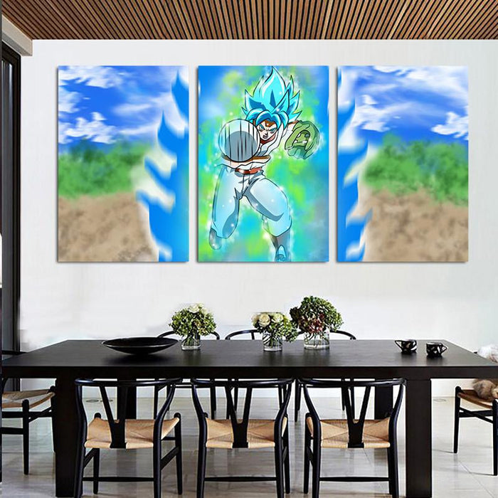 Dragon Base Ball Goku Pitcher Design 3pc Canvas Prints Wall Art Prints