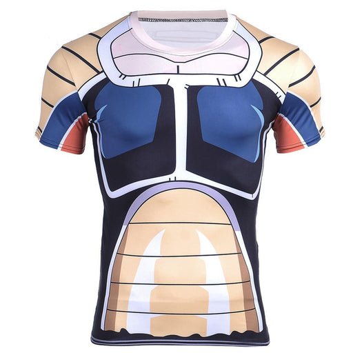 Elite Saiyan Warrior Nappa Battle Armor Cosplay 3D Compression T-shirt