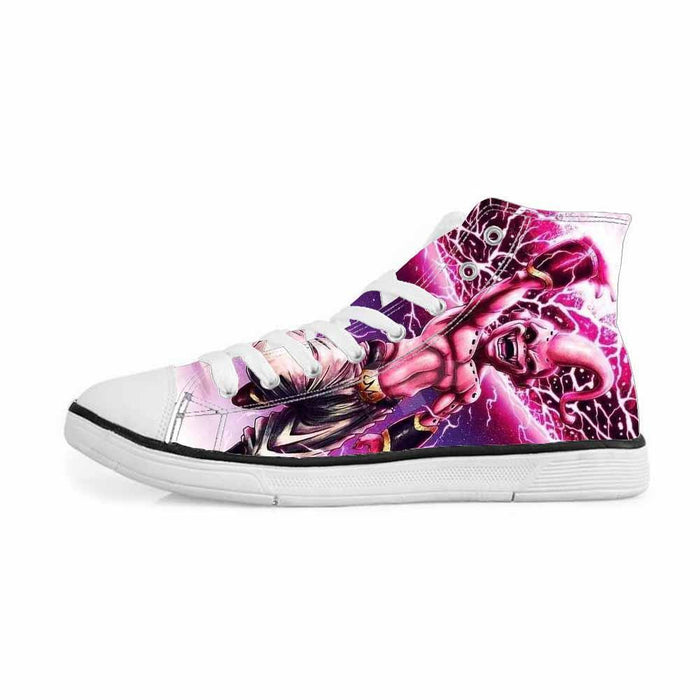 Evil Kid Majin Buu Villain Killer Design Pink Sneakers Converse Shoes