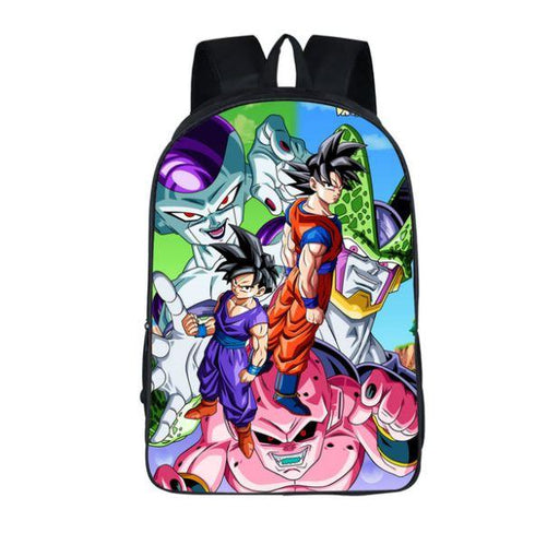 Frieza Goku Cell Gohan Buu Dragon Ball School Backpack Bag