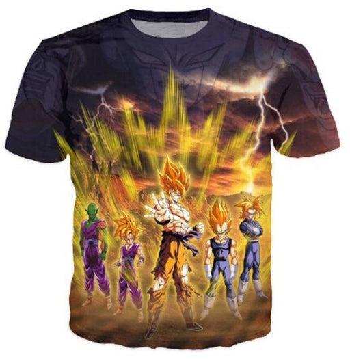 Frieza Super Saiyan Aura Goku Vegeta Gohan Trunks Piccolo T-Shirt - Saiyan Stuff