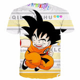 Funny Candy Cute Jumping Young Kid Goku Letters Classic T- Shirt - Saiyan Stuff