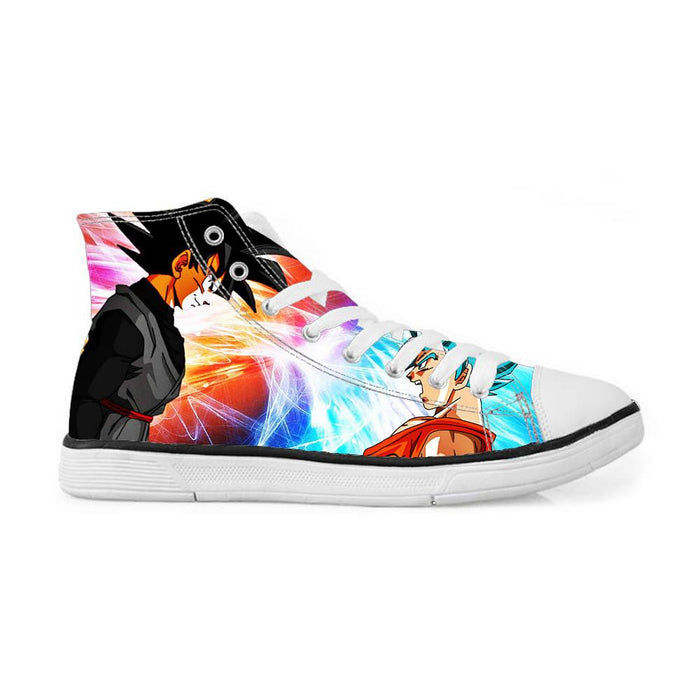 Goku Black Versus Super Saiyan Blue Goku Sneakers Converse Shoes