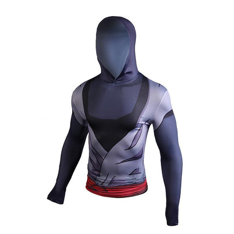 Goku Black Zamasu Costume Compression Hooded 3D Long Sleeves T-Shirt
