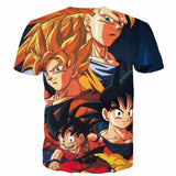 Goku Evolution from Kid to SSJ3 Transformation Dopest 3D T- Shirt - Saiyan Stuff - 2