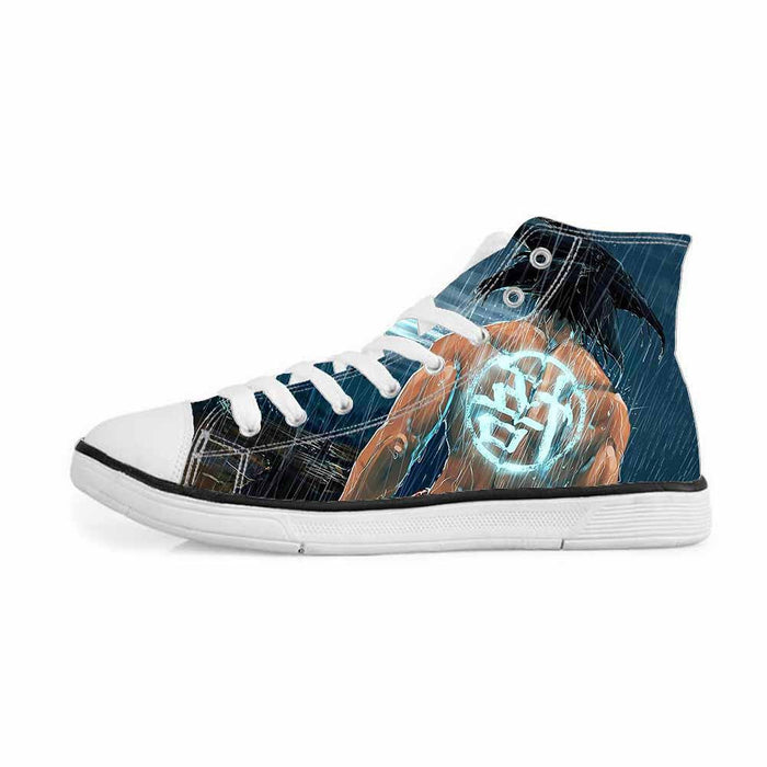 Goku Go Symbol Kanji Under the Rain Cool Sneakers Converse Shoes
