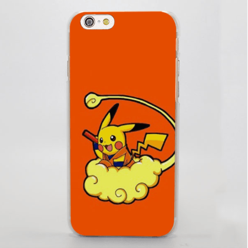 Goku Nimbus Cloud Pokemon Pikachu Creative iPhone 4 5 6 7 Plus Case