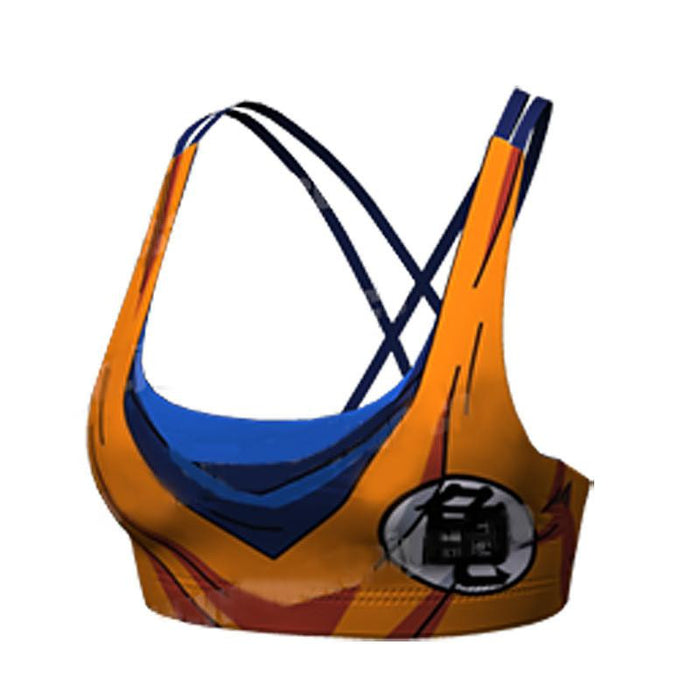 Goku Orange Costume Cosplay Sexy Gym Workout Compression Sports Bras - Saiyan Stuff