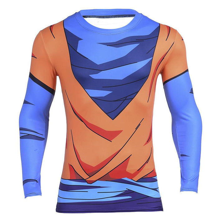 Goku Simple Costume Orange 3D Gym Compression Fitness T-Shirt