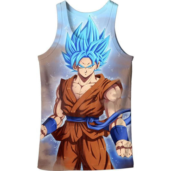 Goku Super Saiyan Blue God DBZ Cool Tank Top - Saiyan Stuff