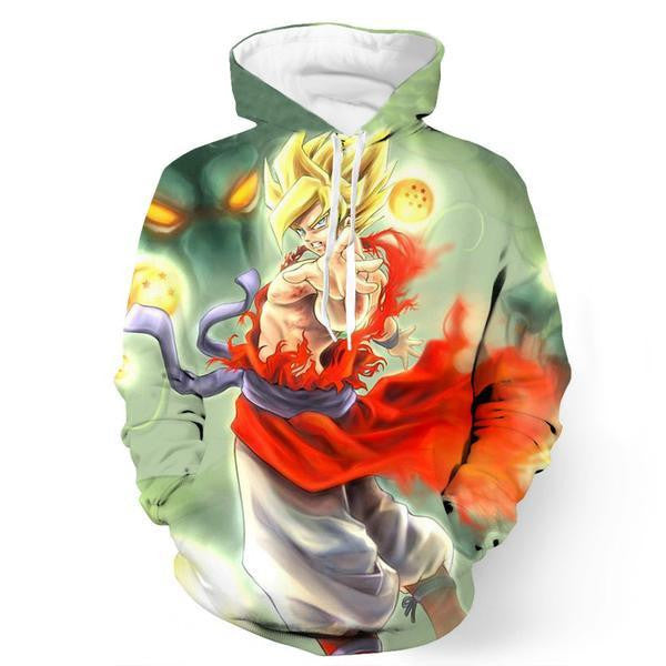 Goku Super Saiyan Transformation Shenron Powerful Cool Trendy Hoodie