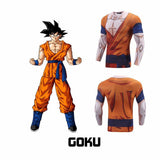Goku Uniform Whis Symbol Long Sleeves Skin Gear Compression 3D Shirt - Saiyan Stuff