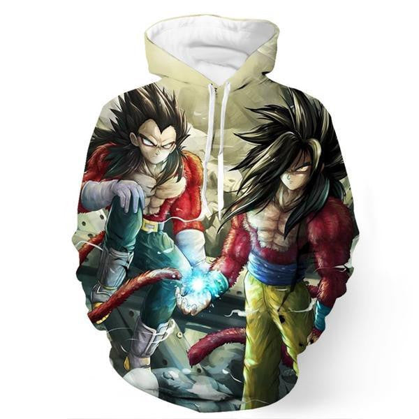 Goku Vegeta SSJ4 Friendship Graphic Artwear DBZ Dope 3D Hoodie