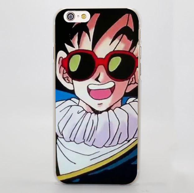 Goku with Cool Sunglasses Funny Dragon Ball iPhone 5 6 7 Plus Case