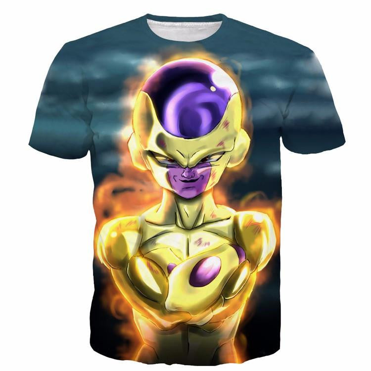 Golden Frieza Goruden Furiza Ultimate Evolution 3D T-Shirt - Saiyan Stuff
