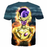 Golden Frieza Goruden Furiza Ultimate Evolution 3D T-Shirt - Saiyan Stuff - 2