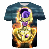Golden Frieza Goruden Furiza Ultimate Evolution 3D T-Shirt - Saiyan Stuff - 1