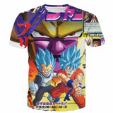 Golden Frieza Super Saiyan God Goku Vegeta Blue Hair 3D T- Shirt - Saiyan Stuff