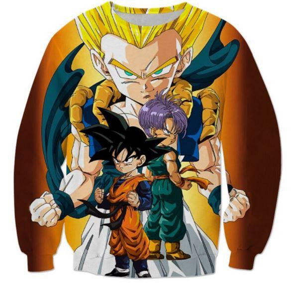 Goten Trunks Gotenks Super Saiyan 3D Sweatshirt - Saiyan Stuff - 1