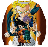 Goten Trunks Gotenks Super Saiyan 3D Sweatshirt - Saiyan Stuff - 2