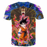 Great Ape Monkey Kid Goku Galaxy High-Quality Battle 3D T- Shirt - Saiyan Stuff - 2