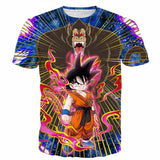 Great Ape Monkey Kid Goku Galaxy High-Quality Battle 3D T- Shirt - Saiyan Stuff - 1