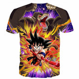 Great Ape Monkey Warrior Angry Kid Goku Fighting 3D T- Shirt - Saiyan Stuff - 2
