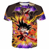 Great Ape Monkey Warrior Angry Kid Goku Fighting 3D T- Shirt - Saiyan Stuff - 1
