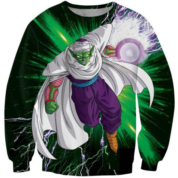 Green Z-Fighter Super Warrior Piccolo Dragon Ball Sweatshirt - Saiyan Stuff - 1