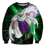Green Z-Fighter Super Warrior Piccolo Dragon Ball Sweatshirt - Saiyan Stuff - 2