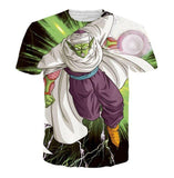 Green Z-Fighter Super Warrior Piccolo Dragon Ball T-Shirt - Saiyan Stuff - 1