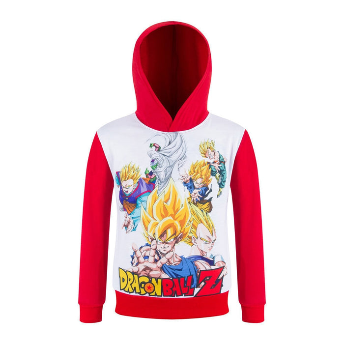 Dragon Ball Z Popular Anime Characters Hoodie For Kids