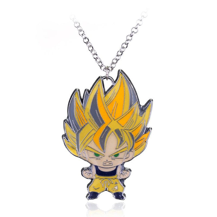 Kid Goku Super Saiyan Cute Metal Pendant Necklace