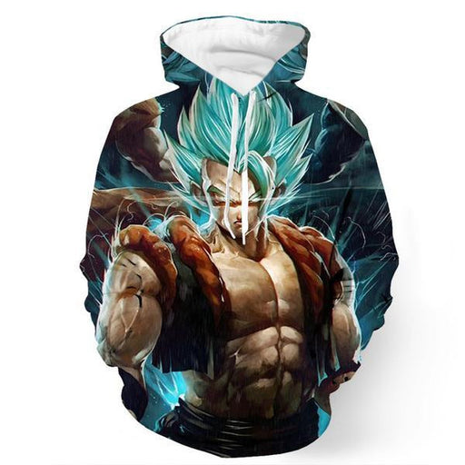 Incredible Gogeta Artwork Super Saiyan Goku Vegeta Dope Trendy Hoodie