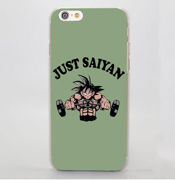 Just Saiyan Son Goku Train Gym Simple Hard iPhone 4 5 6 7 Plus Case