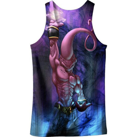 Kid Buu Spirit Ball Destruction Dark 3D Tank Top - Saiyan Stuff