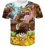 Kid Gohan Inner Power Great Ape Form 3D Graffiti T-shirt - Saiyan Stuff - 1