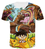 Kid Gohan Inner Power Great Ape Form 3D Graffiti T-shirt - Saiyan Stuff - 2