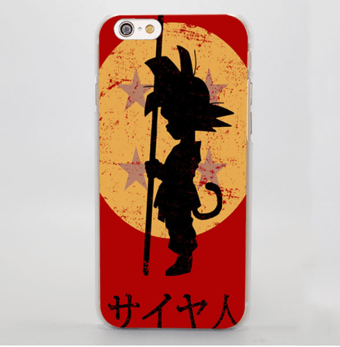 Kid Goku Shadow Dragon Ball 4 Stars iPhone 5 6 7 Plus Case