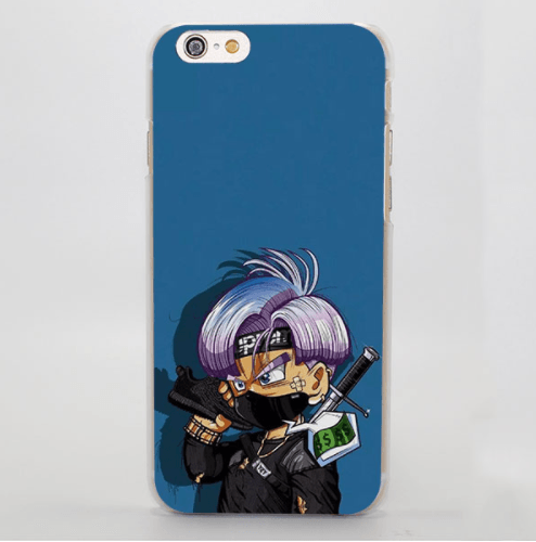Kid Trunks Ninja Mode Blue Hard Clear iPhone 5 6 7 Plus Case Cover