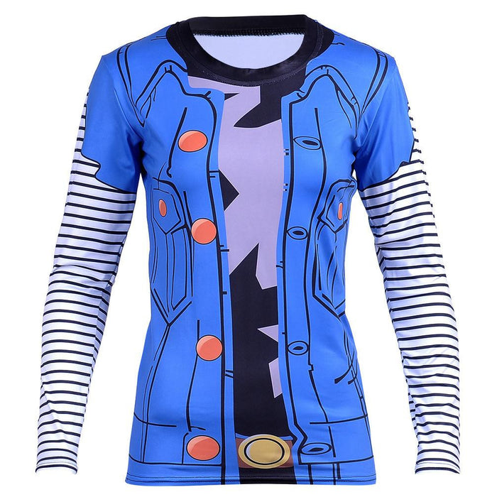 Lazuli Android 18 Red Ribbon Army Long Sleeves Women T-Shirt