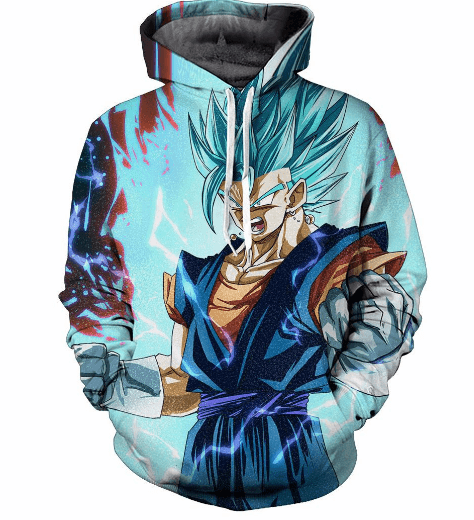 Mad Son Gohan Super Saiyan Blue Hair Flash Mystic Cool 3D Hoodie