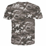 Majin Vegeta Camo Military Camouflage Dab Dance Grey T- Shirt - Saiyan Stuff - 2