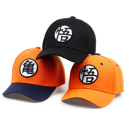 Master Roshi Goku Kame Symbol Orange Black Baseball Cap
