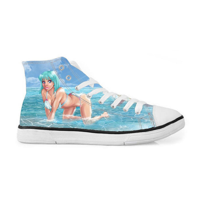 Master Roshi Sexy Bikini Girl Beach Sneakers Converse Shoes