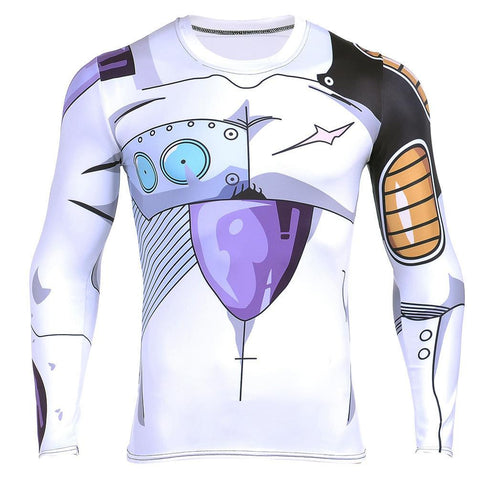 Mecha Frieza Cyborg Form Armor Long Sleeves Compression T-shirt