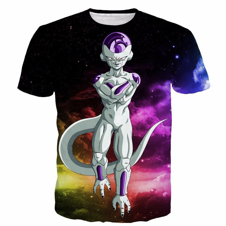 Mighty Frieza Flying Space Galaxy Swag Black Ultimate 3D T-Shirt - Saiyan Stuff - 1