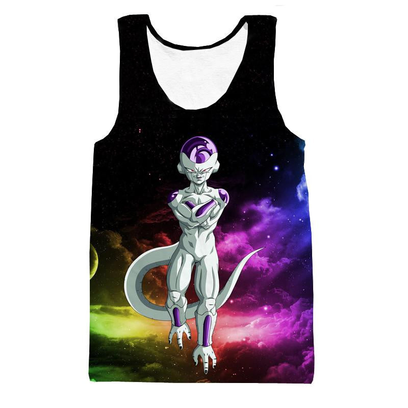 Mighty Frieza Flying Space Galaxy Swag Black Ultimate 3D Tank Top - Saiyan Stuff - 1