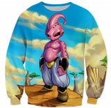 New Dragonball Kid Buu Colorful Pink Blue 3D Sweatshirt - Saiyan Stuff - 2