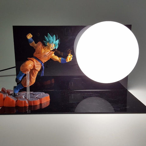 Resurrection of F  Lamp Super Saiyan Blue SSGSS Goku Kaioken Lamp - Saiyan Stuff